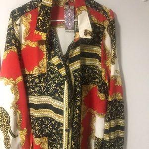 Tshirt dress chain printed